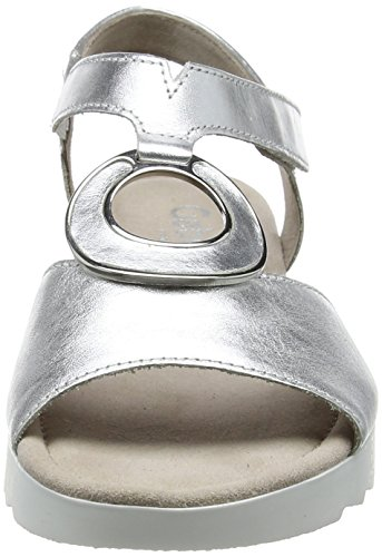 Gabor Damen Comfort Sport Riemchensandalen Mehrfarbig (Silber (Glamour))