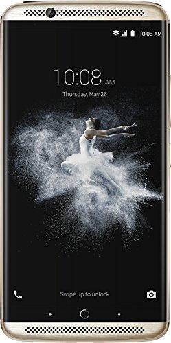 ZTE Axon 7 Smartphone débloqué (Ecran: 5,5 pouces - 64 Go - Double Nano-SIM - Android 5.1 Lollipop) Or (Import Allemagne)
