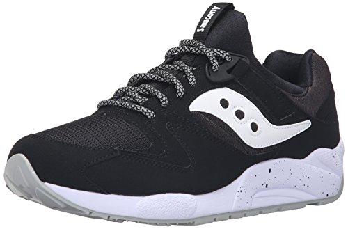 Saucony Grid 9000, Sneaker a Collo Basso Uomo, Nero (Black/White), 38.5 EU