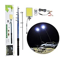 ‏‪500W Multifunction Outdoor LED Fishing Rod Light 5M Camping Lantern Lamp with IR Remote 3 Modes‬‏