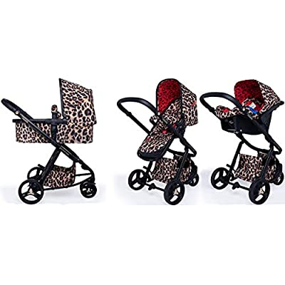 Cosatto Paloma Giggle 3 Travel Sytem Hear us Roar with Car Seat adaptors & Raincover