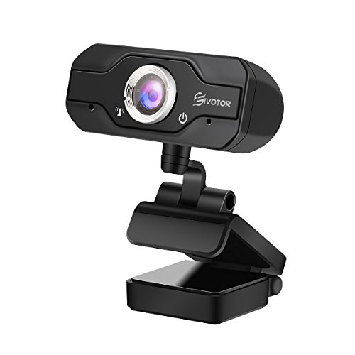 Webcam PC, EIVOTOR Telecamera PC 720p Full HD con Microfono Stereo, USB Web Cam per Facetime / Video Chat / Registrazione, Compatibile con Windows / Mac / Android, Nero