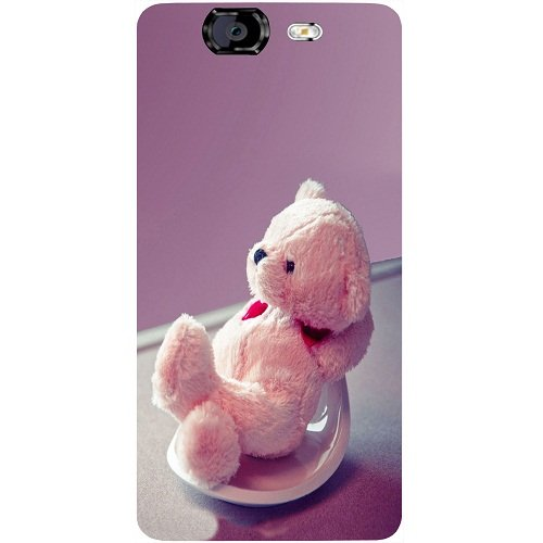 Casotec Cute Teddy Bear Design Hard Back Case Cover for Micromax Canvas Knight A350