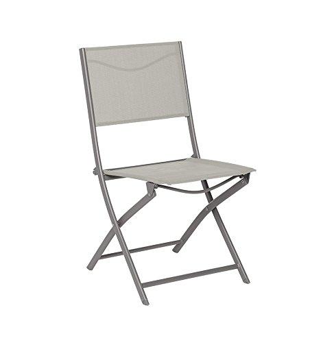 Chaise pliante Modula Hespéride taupe/mastic