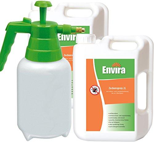 ENVIRA gegen Zecken 2x2Ltr + 2Ltr Drucksprüher