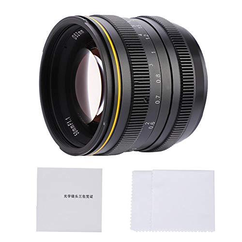 Nosii Kamlan 50mm f1.1 APS-C Lente de Enfoque Manual de Gran Apertura para cámaras sin Espejo (Color : M4/3 Bayonet)