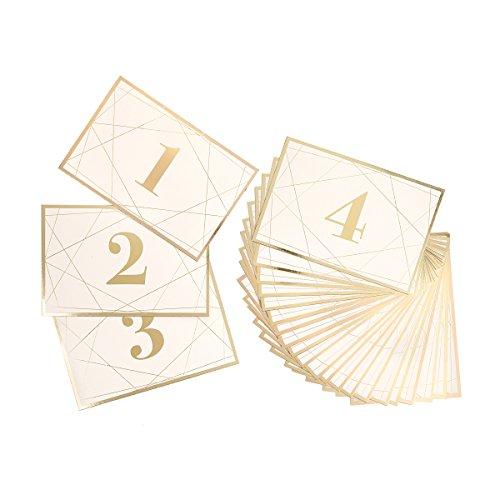 Darice David tutera Modern Geometrische Tisch Anzahl Karten mit Gold Folie, 25Stück