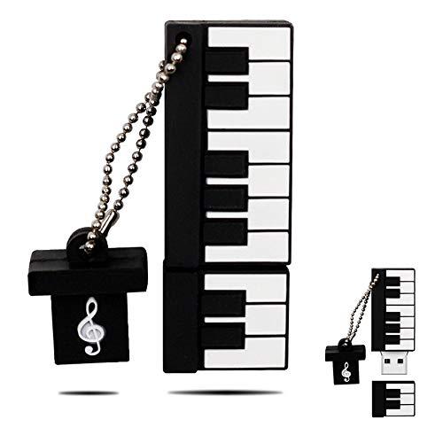 H&T Netter Karikatur-Klavier-Instrument-Flash-Laufwerk, USB 2.0 Memory Stick16gb-128GB USB Memory Stick Für Kind Photo Bildspeicher -Geschenk,64gb