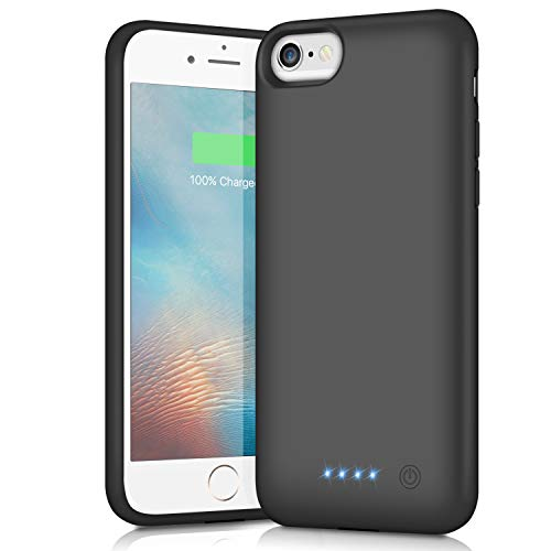 iPosible Cover Batteria per iPhone 8/6/6S/7, 6000mAh Custodia Ricaricabile Cover Caricabatterie Batteria Esterna Battery Case per iPhone 7/6S/6/8 [4.7''] Batteria Power Bank Backup Charger Case