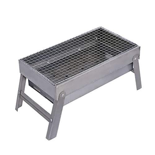 Barbacoas portátiles Hogar Exterior Acero inoxidable Barbacoa Grill Portable Plegable Carbón Grill...