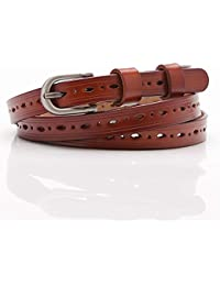 Easy Go Shopping Cinturón de Hebilla para Mujer Cinturón de Cuero Hueco  Cinturón Exquisito cinturón ( 5d39c70ddd06