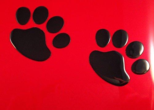 SKS Distribution® 1Paar schwarz Süßer Hund/Welpen 3D Pfotenabdruck Auto Emblem Aufkleber Badge Aufkleber Art