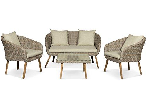 LANTERFANT - Loungeset Maud, Gartenmöbel, Sitzgruppe, 4 Sitze, Gartenset, Sitzgarnitur, Wicker