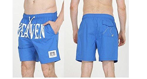 Lantra Besa CSM0003 Wasserabweisend Schnelltrocknend Herren Männer Badehose Badeshorts Knielang Boardshorts Beach Shorts für Wassersport im Sommer aus 100% Baumwolle Blau