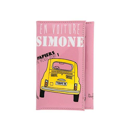 Porte-Papiers de Voiture Humoristique EN VOITURE SIMONE Femme - DLP Derrière La Porte