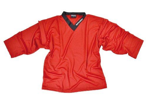 SHER-WOOD - Eishockey Trainingstrikot für Erwachsene I stilvolles Practice Jersey aus gelochtem, Rot, Gr. XL