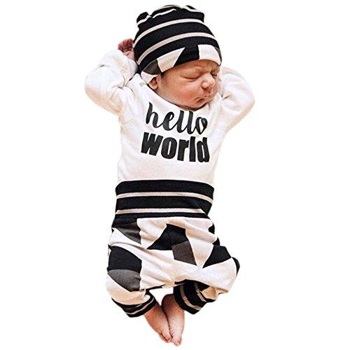 Ephex Baby Jungen Bekleidungsset Reine Baumwolle Winter Plus Hose Und Hut Für Unter 18 Monate