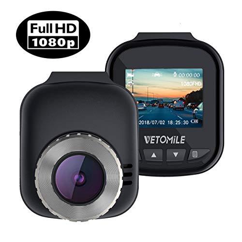 VETOMILE Mini Cámara de Coche 1080P Full HD Car Dash CAM Gran...