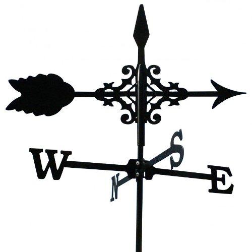 Wetterfahne 50,5x71cm schwarz Stahl Motiv Pfeil klein