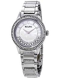 Bulova a su vez de cristal de acero inoxidable estilo pulsera para mujer  reloj 96l257 9e6395cb6601