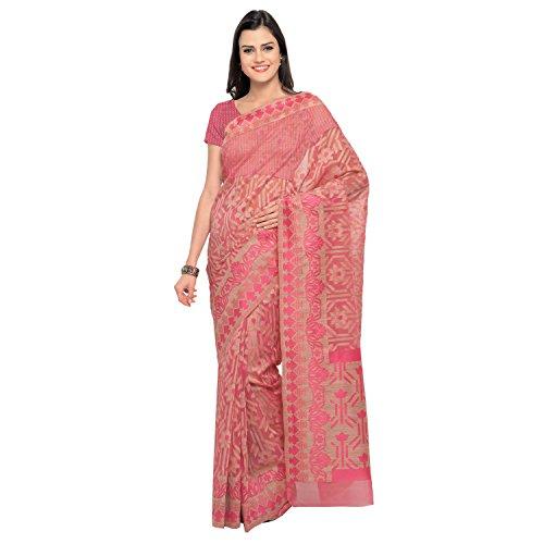 Bhelpuri Organza Saree (Ay-Sr-Hc-40002_Pink)