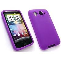 Emartbuy Htc Desire Hd (Nicht Wünschen) Silicon Case / Cover / Skin Purple