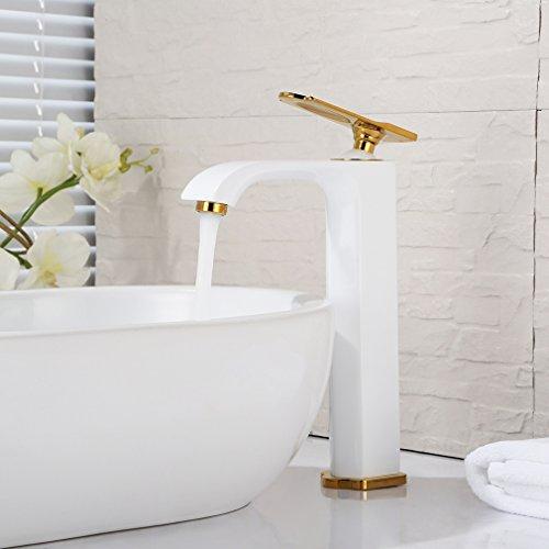 Bonade Hoch Wasserhahn Einhebelmischer Armatur Waschtischarmatur für Bad Waschbecken Waschtisch