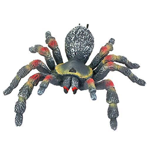 Amosfun Halloween Spinne Figur Spielzeug Desktop Ornamente Streich Prop für Home Office Dekoration