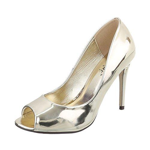 Oro Peep toe Donna design Ital pBgw4qCg