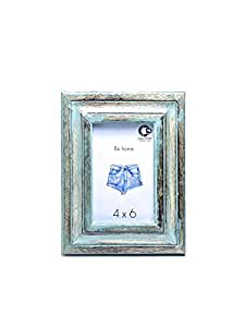CASADECOR Wood Wall Hanging Photo Frame (Blue)