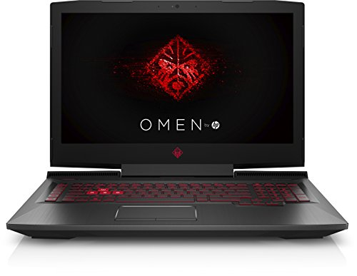 HP Omen 17-an011ng 43,9 cm (17,3 Zoll) Laptop (Intel Core i7-7700HQ, 16 GB RAM, 1 TB HDD, 128 GB SSD, NVIDIA GeForce GTX 1050 Ti, Windows 10 Home 64) schwarz