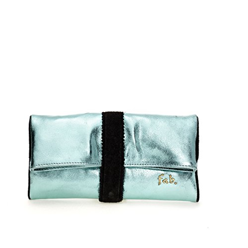 Fab by Fabienne - New york clutch, Frizione da Donna Turchese(glossy ocean blue metallic)
