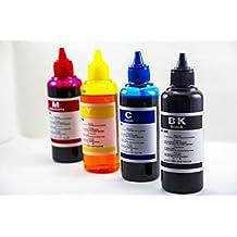 ★4 Bot. 100 ml★ de Tinta para recarga de Cartuchos de impresoras EPSON