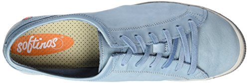 Softinos Isis washed leather, Derbies à lacets femme pastel blue