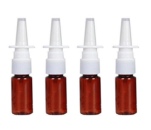 12Kunststoff braun Nasenspray bottles-refillable feinen Nebel Spritzen ZERSTÄUBERN Kosmetik Make-up Parfums Container für medizinische mit