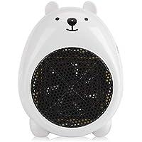 Jadeshay Calentador de Ventilador eléctrico de sobremesa portátil de Invierno de 220 V (Color : Blanco)