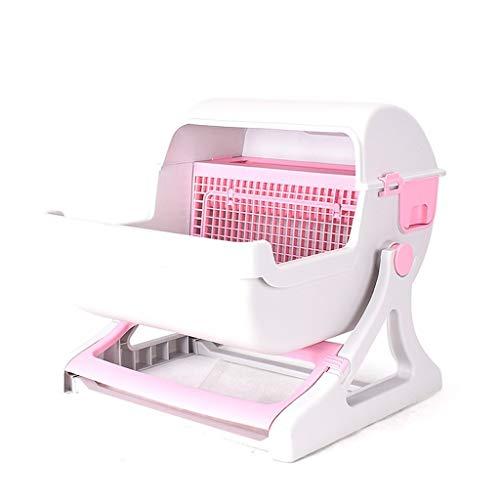 MZP Katzentoilette Große Katzentoilette Vollständig Katzentoilette Mit Selbstreinigende Katzentoilette Einfach Zu Reinigendes Katzenklo (Color : Pink)