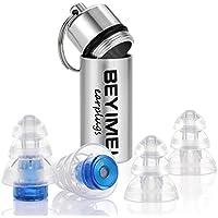 BEYIMEI Noise Cancelling Ohrstöpsel Gehörschutzstöpsel für Konzert,Disco und Festival,ideal auch für kleinere Gehörgänge, besonders leicht zu tragen,mitAluminium Box,blau/transparent (4er Pack)