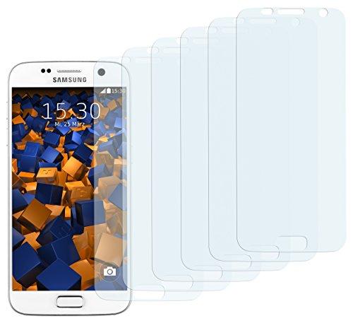 mumbi 6 x Displayschutzfolie für Samsung Galaxy S7 Folie Schutzfolie (bewusst Kleiner als das Display, da Dieses gewölbt ist)