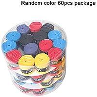 Jullyelegant 60 Piezas de Mango Original Antideslizante pegajoso Fuerte viscoso Gel de Mano Bat Bat Tape Tape béisbol para Raqueta de bádminton - Aleatorio