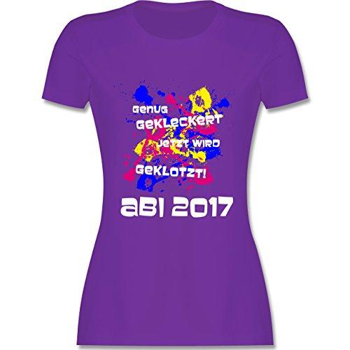 Abi & Abschluss - Jetzt wird geklotzt - Abi 2017 - tailliertes Premium T-Shirt mit Rundhalsausschnitt für Damen Lila