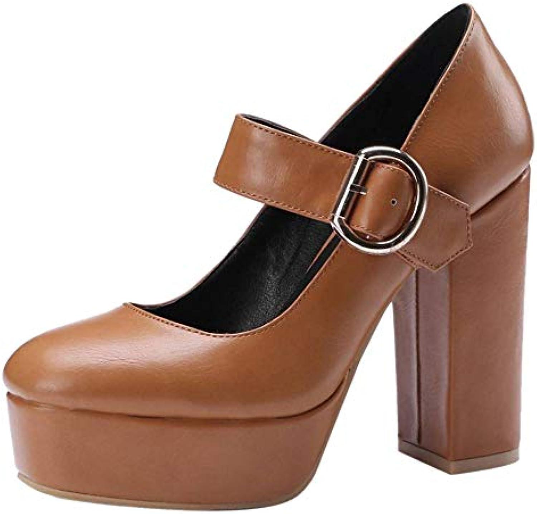 TAOFFEN Femmes Plateforme Escarpins Janes Talons Hauts Mary Janes Escarpins Chaussures Bride ChevilleB07H33DYGNParent 6976fb