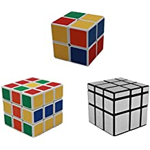 MEISHINE® 3 Pack Mágico Cubo 2x2x2 3x3x3 Cubo Mágico, Mirror Cube Cubo Mágico Inteligencia Mágico cubo de la velocidad Juego de Puzzle Cube Speed Magic Cube (Style 1)