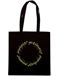 T-Shirtshock - Bolsa para la compra T0678 LORD OF THE RING FRASE ELFICA ANELLO
