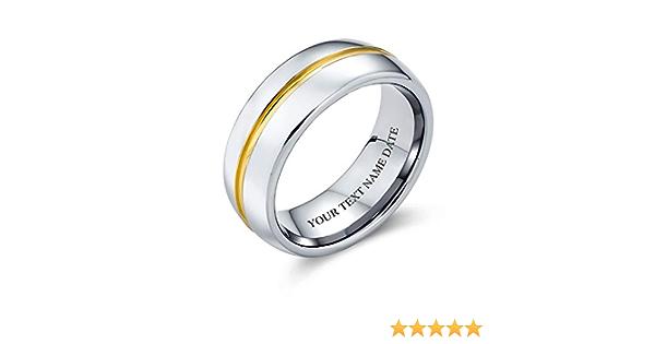 Bling Jewelry Nero Grigio Centro Coppie di Stripe Fede Nuziale Anello di Tungsteno Peri Uomini per Donne Il Massimo Comfort 8Mm
