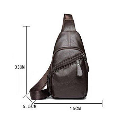 LAIDAYE Beutel Für Männer Kasten Schulter Gym Rucksack Sack Satchel Außen BackpackbackpackChest Tasche Umhängetasche Brusttasche Black