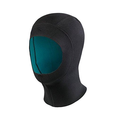 Haodasi Neopren 1.5mm elastisch Tauchen Kappe Haube Surfen Hut Schnorcheln Schwimmen Wassersport Warm Color Black(57-59cm)