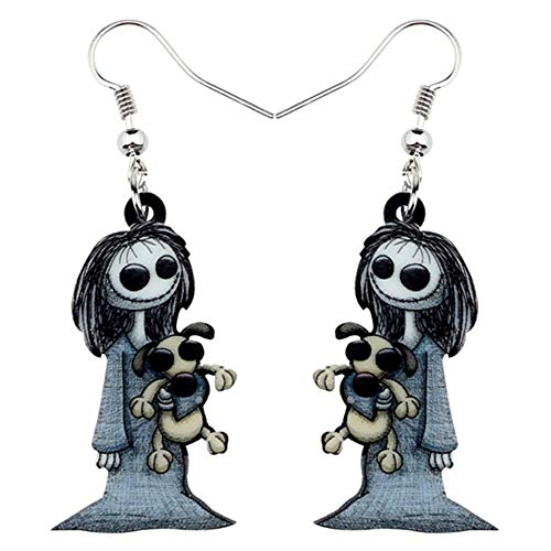 ZHWM Ohrringe Ohrstecker Ohrhänger Acryl Halloween Dark Smile Puppe Spielzeug Ohrringe Baumeln Drop Hoops Ghost Schmuck Für Frauen Mädchen Party Kostüme Charms Geschenk