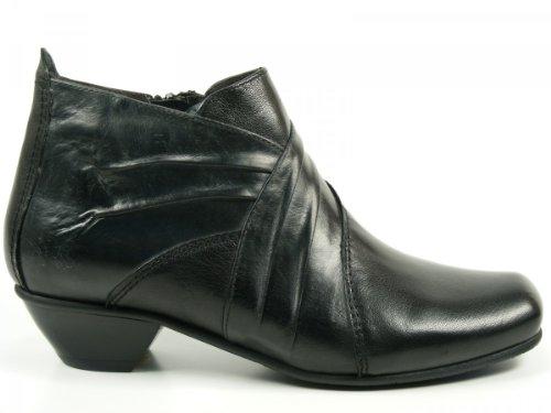 Fidji Schuhe Damen Stiefelette Ankle Boots schwarz L185 Schwarz