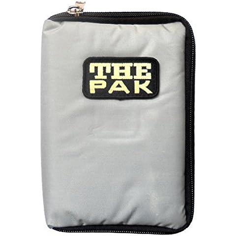Custodia THE PAK Dart, colore grigio realizzato in resistente nylon-Custodia per 1-2 montato Set di freccette e scomparti aggiuntivi per il torneo e voli di ricambio. (senza contenuto)